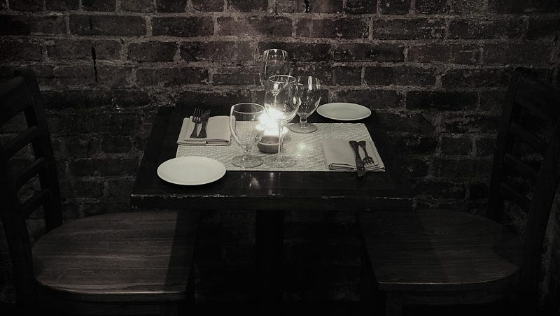 table for two grey